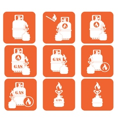 Set of tourism cooking equipment icons vector image vector image