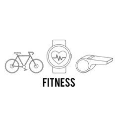 Silhouette of fitness icon set design vector