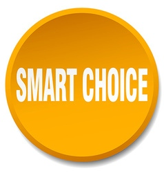 smart choice orange round flat isolated push vector image vector image