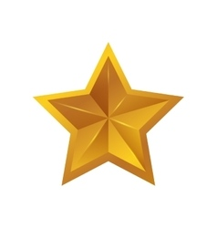 Star gold shape yellow icon graphic vector image