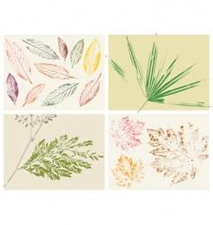 texture grunge leaf vector image vector image