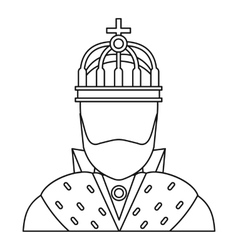 King icon in outline style vector