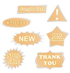 paper labels vector image