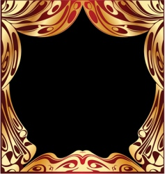 Simple red and gold curtain vector