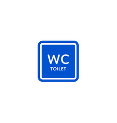 wc toilet roadsign isolated on white background vector image