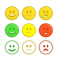 Feedback emoticon icons vector