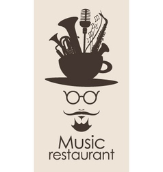 Music restaurant vector