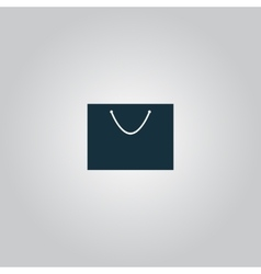 Shopping bag - icon vector