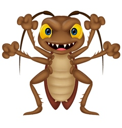 Scary cockroach cartoon vector