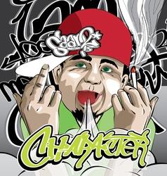 Hip hop character vector