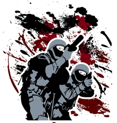 elite soldiers vector image