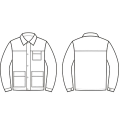 Work jacket vector image