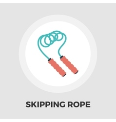 Skipping rope icon flat vector