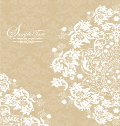 Vintage lace and damask invitation vector