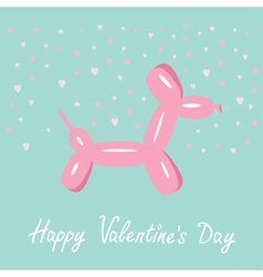 Balloon dog valentines day Flat design vector image