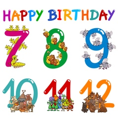 Birthday card designs vector