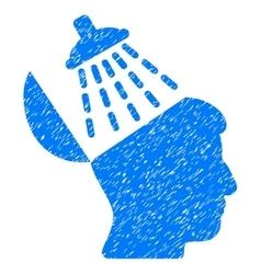 Brain washing grainy texture icon vector