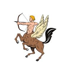Centaur bow arrow shooting vector