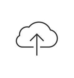cloud data upload icon vector image vector image