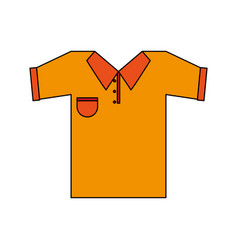 Color image cartoon golf t-shirt sport wear vector