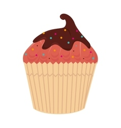 Cup cake dessert sweet isolated vector