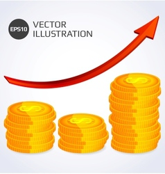 Finance Growth Abstract vector image vector image