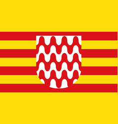 flag of girona is a city of spain vector image vector image