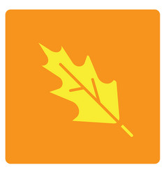 Flat color leaf icon vector