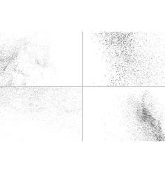 Grainy texture on white set vector image