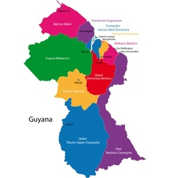 Guyana map vector
