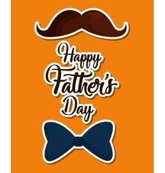 happy fathers day letters emblem and related icons vector image vector image