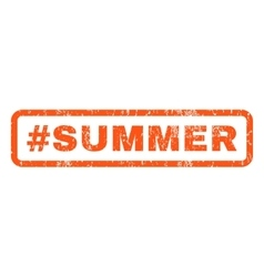 Hashtag Summer Rubber Stamp vector image vector image