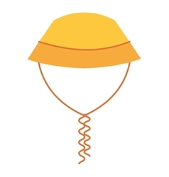 hat female summer fashion isolated icon vector image vector image