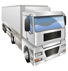 haulage truck vector image