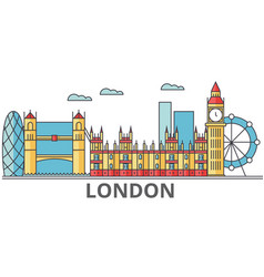 London city skyline buildings streets vector