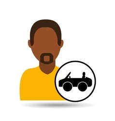 Man icon car sport design vector