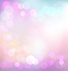 Pastel elegant abstract background with bokeh vector