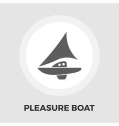 Pleasure boat icon vector