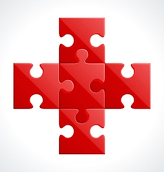 red puzzle vector image vector image
