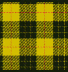 Scottish plaid black bands on yellow macleod vector