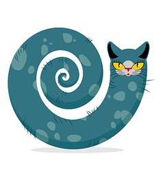Snake cat fantastic mythical pet cute dreamlike vector