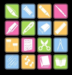 Stationery Icon Basic Style vector image vector image