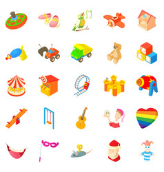Sunshine icons set cartoon style vector