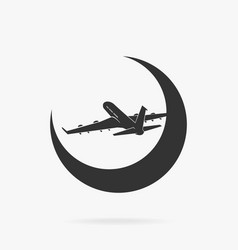 symbol passenger airplane in sky vector image vector image