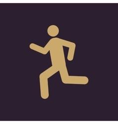 The man running icon run symbol flat vector