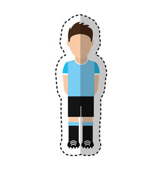 uruguayan player soccer icon vector image vector image