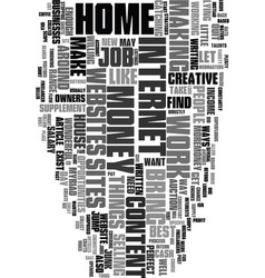Work at home for fun and profit text word cloud vector