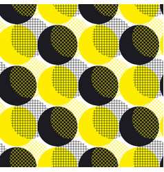 yellow round geometry seamless pattern vector image