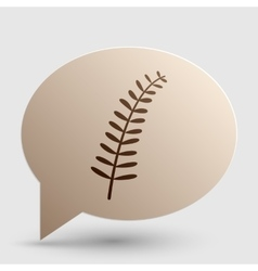 Olive twig sign brown gradient icon on bubble vector