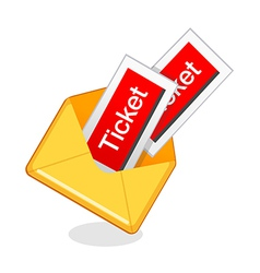 Icon tickets vector